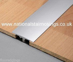 Aluminium Silver Flat Door Bars Strips Threshold T- Bar ...
