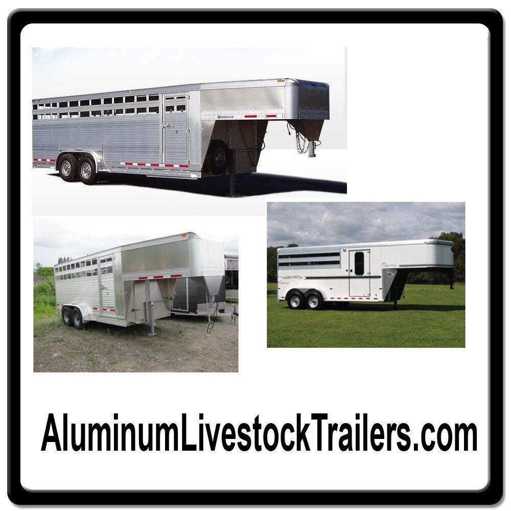Aluminum Livestock Trailers com Online Web Domain for Sale Horse Cattle 2 3 4 $$