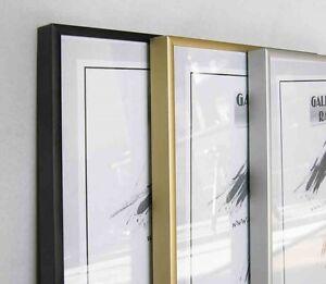 Alurahmen-Plakatrahmen-Bilderrahmen-Silber-Schwarz-Gold-von-10x15-cm-bis-70x100