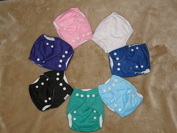 Alva Baby New Born Cloth Diapers in Solid Colors
