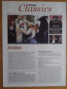 Amadeus Filmkarte / Sammelkarte CINEMA Classics DIN A4 - <span itemprop='availableAtOrFrom'>Steinbach, Deutschland</span> - Amadeus Filmkarte / Sammelkarte CINEMA Classics DIN A4 - Steinbach, Deutschland