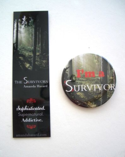 Amanda Havard The Survivors Promotional Bookmark & Button in Books, Accessories, Bookmarks | eBay