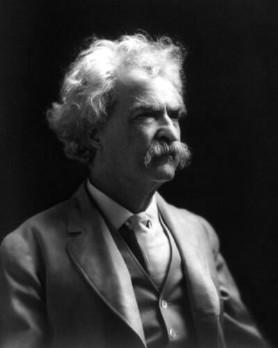 American Author MARK TWAIN or Samuel Clemens Vintage 8x10 Photo Print Portrait in Collectibles, Photographic Images, Antique (Pre-1940) | eBay