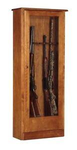american classics 10 gun cabinet wood rifle storage safe new ebay