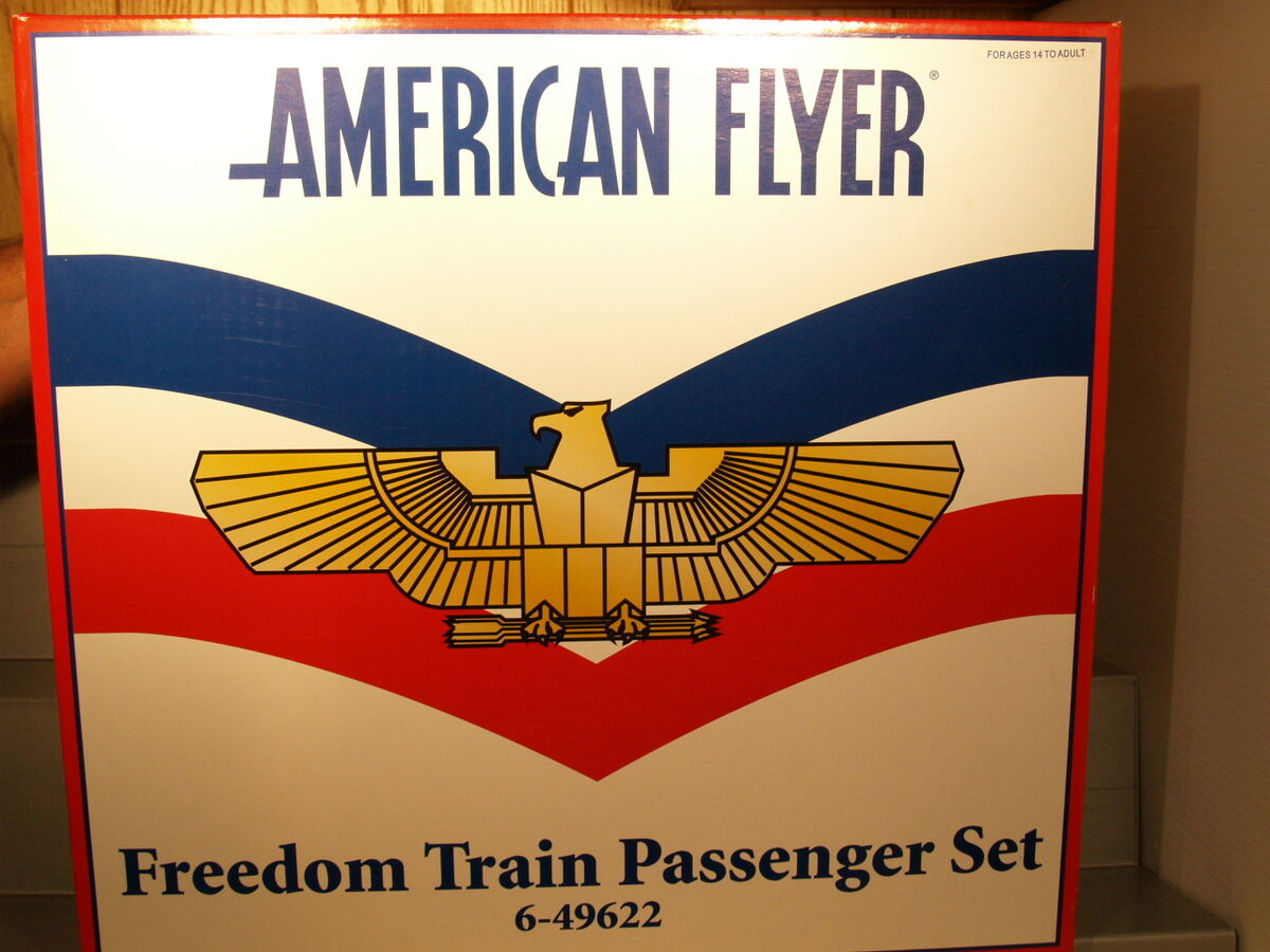 American Flyer S Gauge #49622 Freedom Train Passenger Set NEW