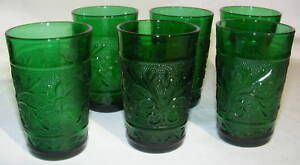 Forest Green Sandwich Tumblers Set of 3 Anchor Hocking - Forest Green