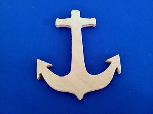 anchor wooden craft shape sizes qtys available nautical