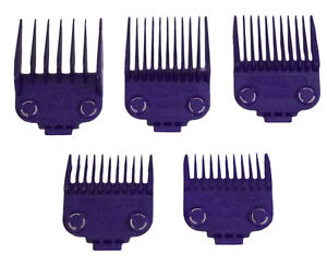 Barber Guards : ... Silver Magnetic Attachment 5 Comb Set Clipper Guards Barber NEW eBay