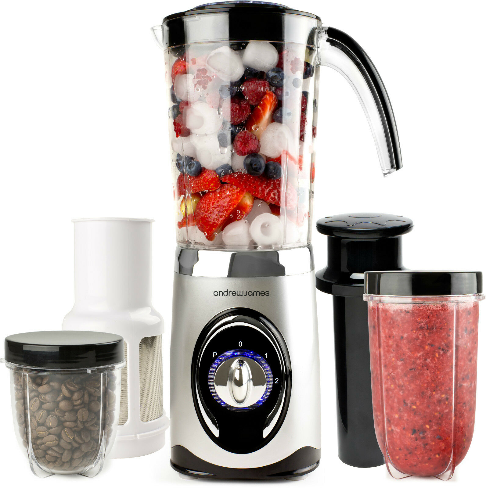 andrew james multifunctional 4 in 1 smoothie maker blender grinder juicer ebay. Black Bedroom Furniture Sets. Home Design Ideas