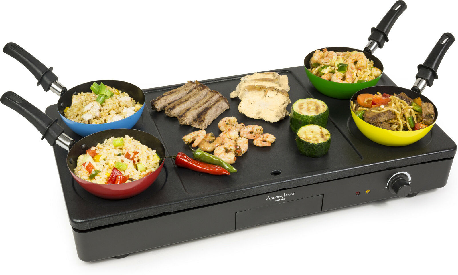 new andrew james party wok grill teppanyaki hot plate hob pancake crepe function ebay. Black Bedroom Furniture Sets. Home Design Ideas