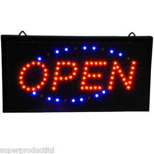 Animiertes-LED-Neonleuchtzeichen-Leuchtschild-OPEN-Offen-15-Stueck-Geschaeft