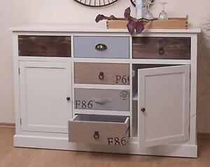 anrichte massiv kiefer kommode sideboard wei grau braun antik schrank modern ebay. Black Bedroom Furniture Sets. Home Design Ideas
