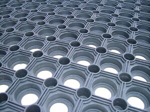 Anti Slip Hollow Rubber Mat Matting Floor Water Narrow