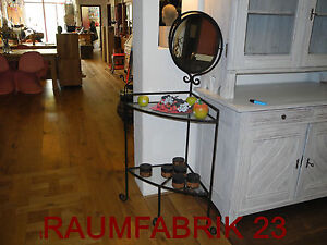 antik design shaby impressionen schminktisch glas metall regal spiegel schwarz ebay. Black Bedroom Furniture Sets. Home Design Ideas