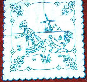 Antikes-Deckchen-perfekte-Nadelzeichnung-Hollandidylle