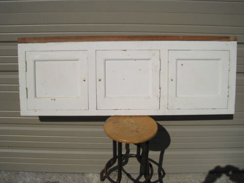 Antique Cabinet Front with 3 Hinged Doors in Antiques, Furniture, Cabinets & Cupboards | eBay