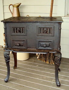 French Cook Stove Wood Coal Parlor France 19c Museum Christmas | eBay