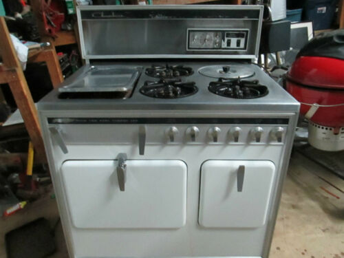 Antique Chambers Gas Stove 3 Burner ! oven ! stewer MODEL# MR-9-H in Antiques, Home & Hearth, Stoves | eBay