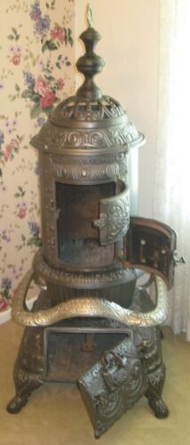 Antique Detroit Stove Works Cast Iron Stove - Dated 1894 in Antiques, Home & Hearth, Stoves | eBay