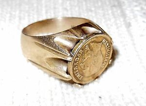 1865 Maximiliano Emperador Gold Coin http://www.ebay.com/itm/Antique-MAXIMILIANO-EMPERADOR-coin-14K-Gold-Marked-Mens-Ring-Size-11-to12-/251204712450