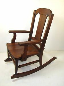 High End Furniture Antique Mission Rocking Chair Childs