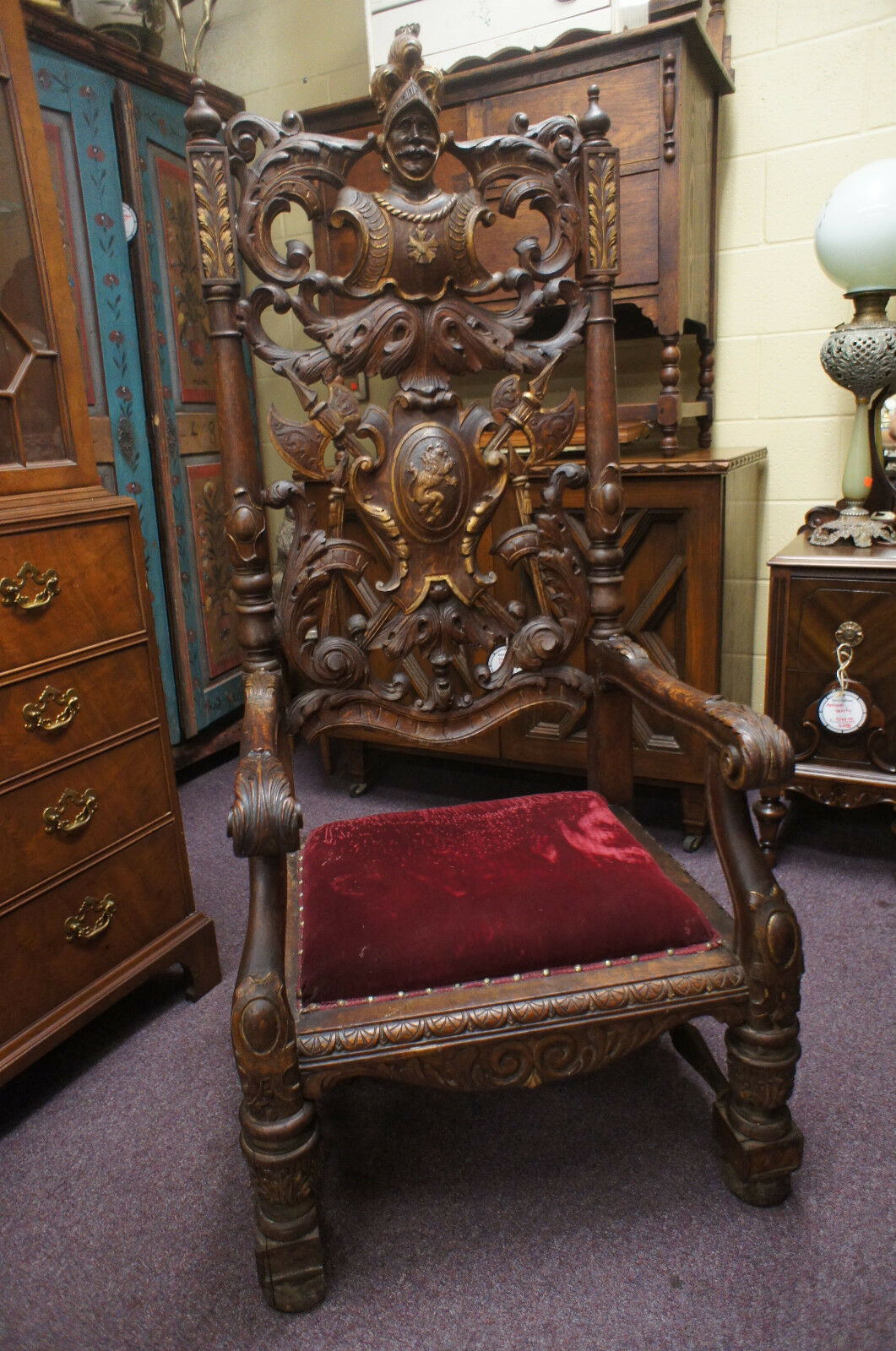 Antique Spanish Throne Chair Conquistador High Back Royal  : T2eC16dHJHwE9n8ii sRBRkTdsdjNw6057 from www.pinterest.com size 1061 x 1600 jpeg 373kB