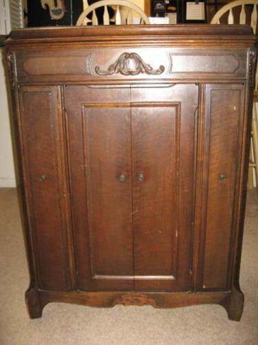 Antique Victor Victrola Cabinet, Model VV 8-12 1928 in Antiques, Furniture, Cabinets & Cupboards | eBay