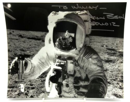 Apollo 12 Astronaut Alan Bean Signed 8x10 Photo - NASA Moon Surface Picture in Collectibles, Autographs, Space | eBay