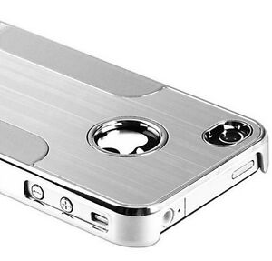Apple-iPhone-4-4S-Cover-Chrome-Alu-Hard-Case-Schutz-Huelle-Metall-Kunststoff