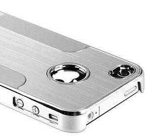 Apple-iPhone-4-4S-Cover-Chrome-Alu-Hard-Case-fuer-Schutz-Huelle-Metall-Kunststoff