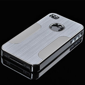 Apple-iPhone-4-4S-Cover-Chrome-Alumimium-Hardcase-Schutz-Huelle-Alu-Case-Bumper