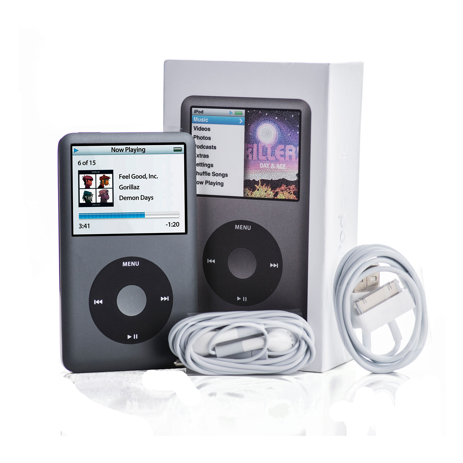 apple ipod classic 7th generation black 160gb mc297ll a mp3 player ebay. Black Bedroom Furniture Sets. Home Design Ideas