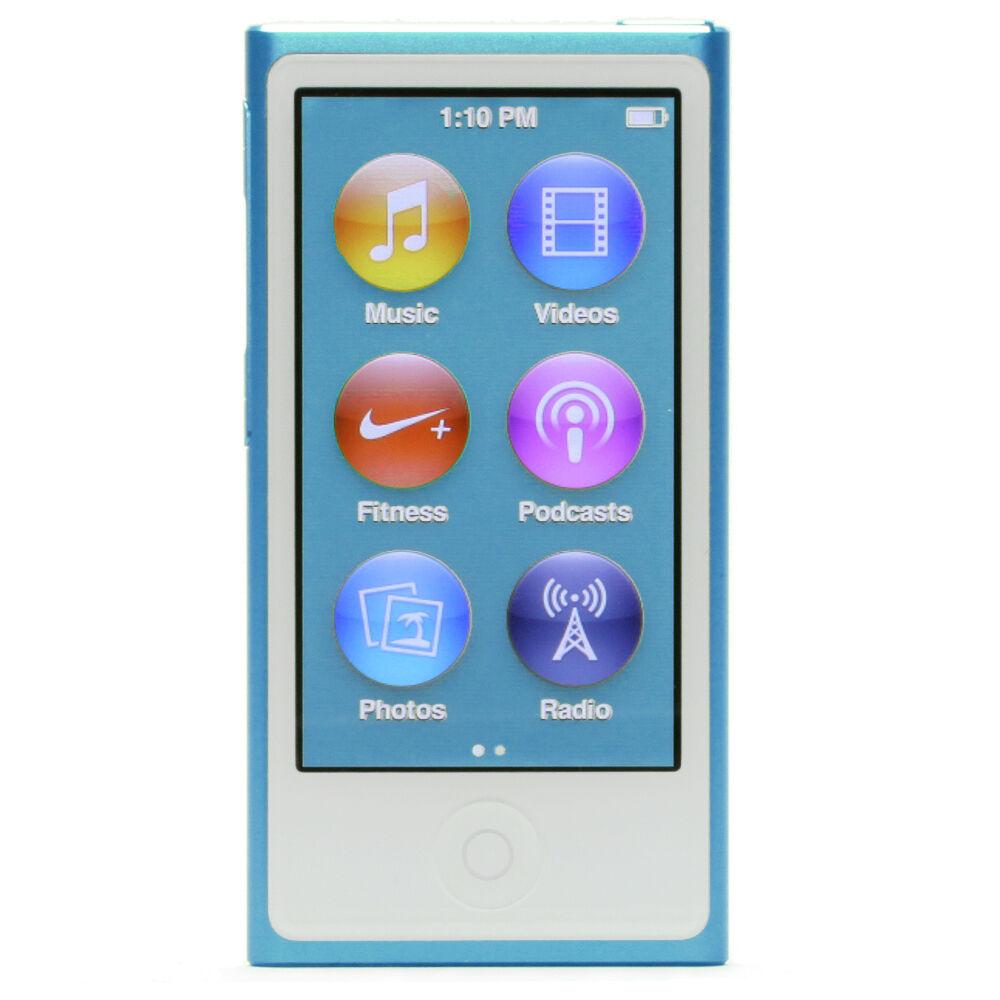apple ipod nano 7th generation blue 16 gb latest model fm. Black Bedroom Furniture Sets. Home Design Ideas