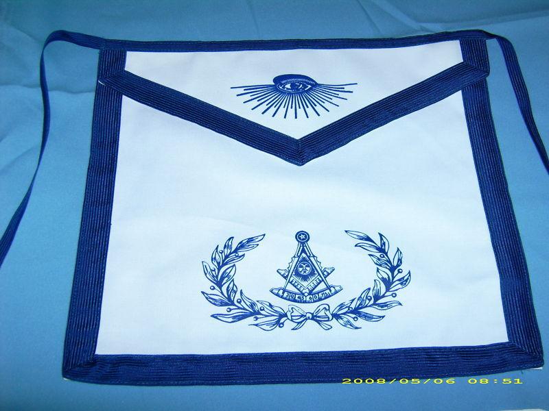 Apron Masonic Past Master Screen Printed PM Logo