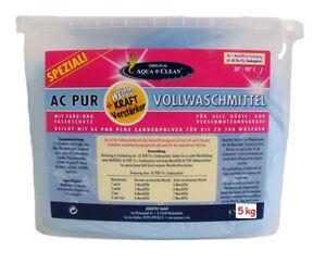 aqua clean ac pur vollwaschmittel 5 kg waschpulver. Black Bedroom Furniture Sets. Home Design Ideas