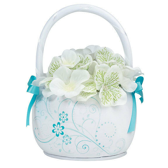 Floral Wedding Flower Girl Basket Wedding Ceremony Flower Girl Baskets