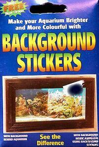 Aquarium background stickers adhesive fish tank background for Fish tank glue