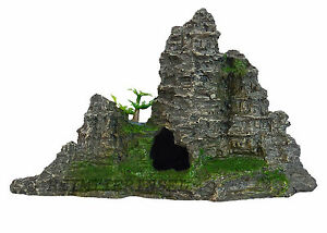 Aquarium-Deko-Felsen-Grotte-Stein-Fische-Terrarium-Dekoration-Zubehoer