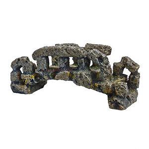 aquarium deko kleine alte stein br cke zubeh r terrarium dekoration h hle ebay. Black Bedroom Furniture Sets. Home Design Ideas