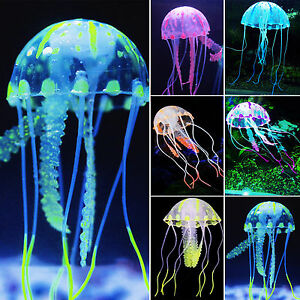 Aquarium-Glowing-Effekt-Landschaft-Plastics-Quallen-Aquarium ...