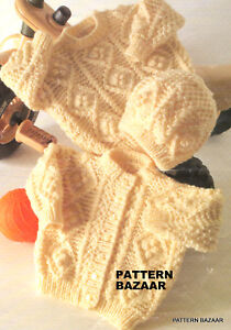 Baby and premature baby and toddler aran knitting patterns