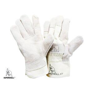 Arbeitshandschuhe-Superbull-4-Gr-10-Rindkernspaltleder-Leder-Handschuhe-Neu