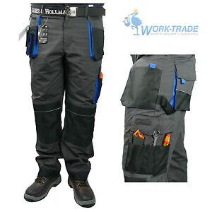 Arbeitshose-Bundhose-Arbeitskleidung-Schutzkleidung-LH-Schwarz-Blau-Gr-46-62-NEU