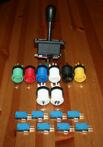 Arcade-Set-Joystick-und-8-Taster-Mame-Jamma-Multicade-Videospielautomat-DIY-Kit