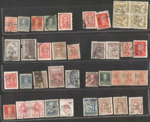 Argentina x 39 Stamps Perfin Very Nice Lot L@@K in Stamps, Latin America, South America | eBay
