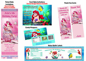 Ariel Birthday Invitations for adorable invitation example
