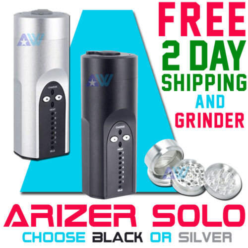 Arizer Solo Portable Vaporizer Black or Silver FREE Shipping 2 Day & 4pc Grinder in Consumer Electronics, Gadgets & Other Electronics, Other | eBay