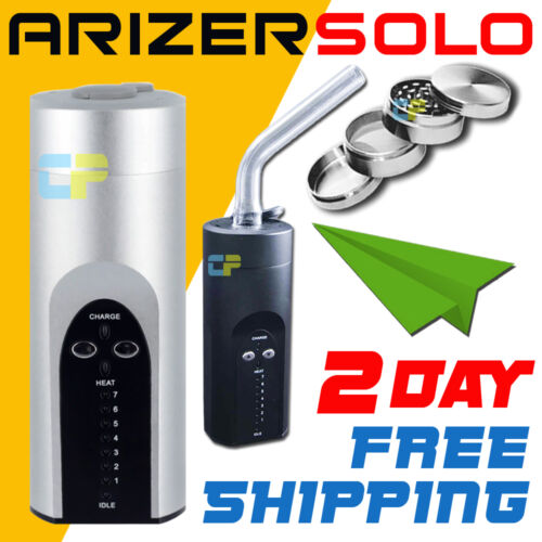 Arizer Solo Vaporizer Portable Vape Black / Silver +Shipping Two Day 4pc Grinder in Consumer Electronics, Gadgets & Other Electronics, Other | eBay