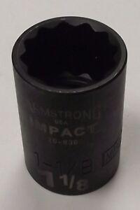 "Armstrong 1/2"" Drive 1-1/8"" Impact Socket 12pt. USA 20-836"
