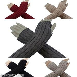 Armstulpen-Pulswaermer-Strick-Zopfmuster-Strickstulpen-kuschlig-warm-Farbauswahl